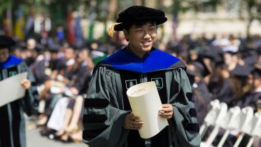 Graduate student at Commencement